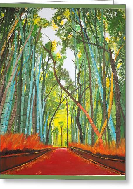 Bamboo Greeting Card by Denise Morgan