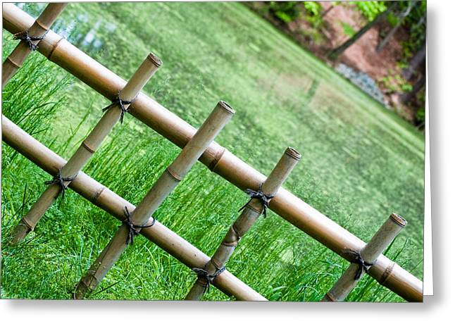 Bamboo Fence Greeting Cards - Bamboo fence Greeting Card by Brett Price
