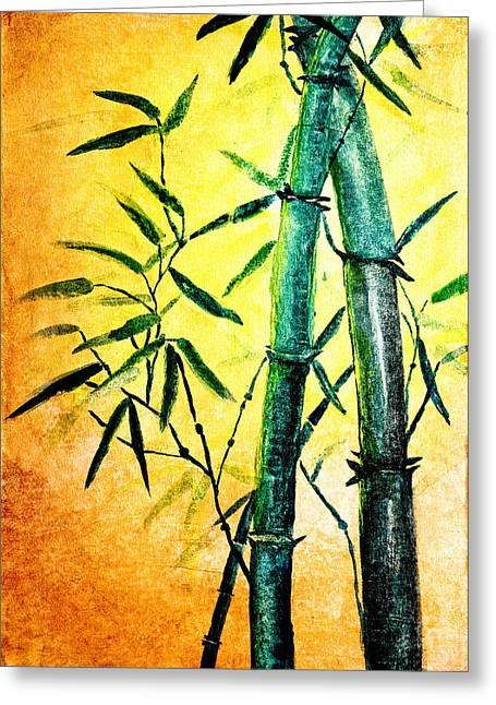 Tranquil Drawings Greeting Cards - Bamboo magic Greeting Card by Nirdesha Munasinghe