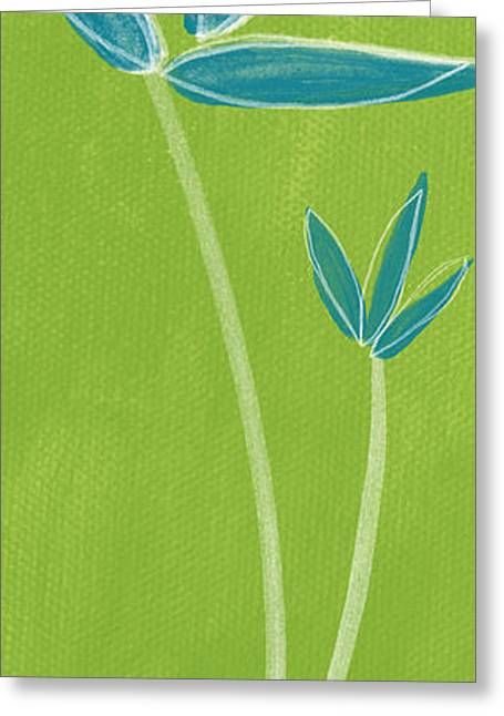 Zen Greeting Cards - Bamboo Namaste Greeting Card by Linda Woods