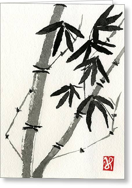 Bamboo Study 3 Greeting Card by Jamie Seul