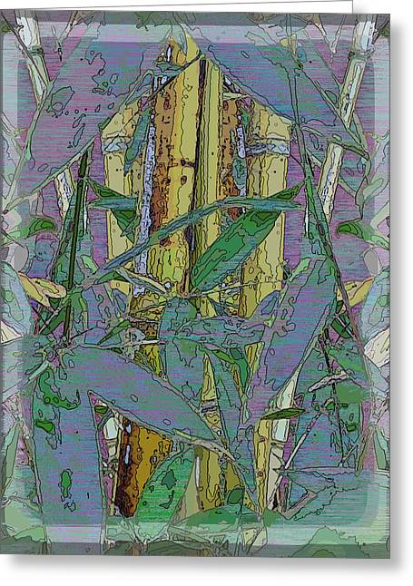 Nature Study Digital Greeting Cards - Bamboo Study 9 Greeting Card by Tim Allen