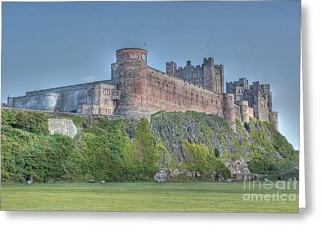 David Birchall Greeting Cards - Bamburgh Castle Greeting Card by David Birchall