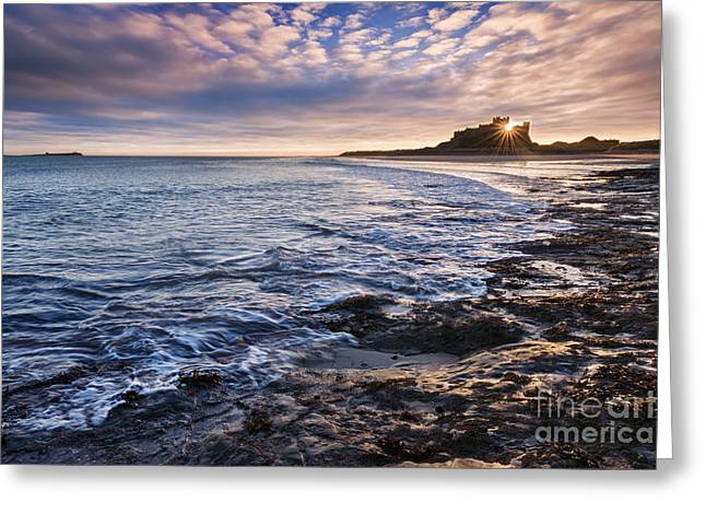 Northumberland Greeting Cards - Bamburgh Castle Greeting Card by Rod McLean