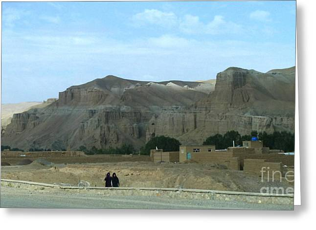 Anna Duyunova Art Greeting Cards - Bamyan Greeting Card by Anna and Sergey