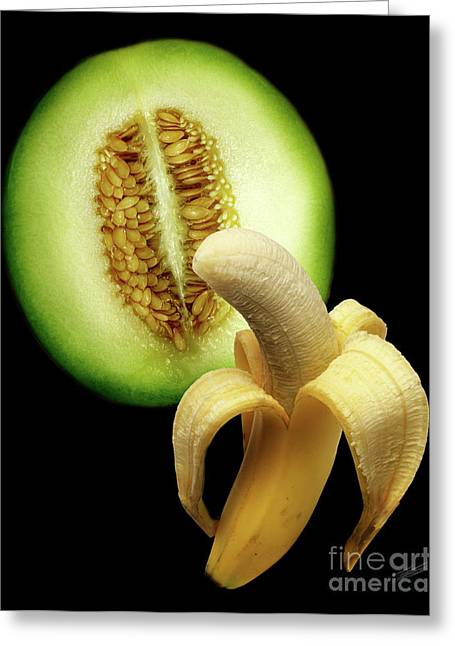 Banana And Honeydew Greeting Card by Peter Piatt
