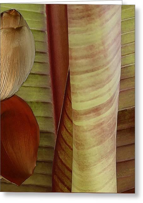 Earthtone Colored Art Greeting Cards - Banana Composition II Greeting Card by Ben and Raisa Gertsberg