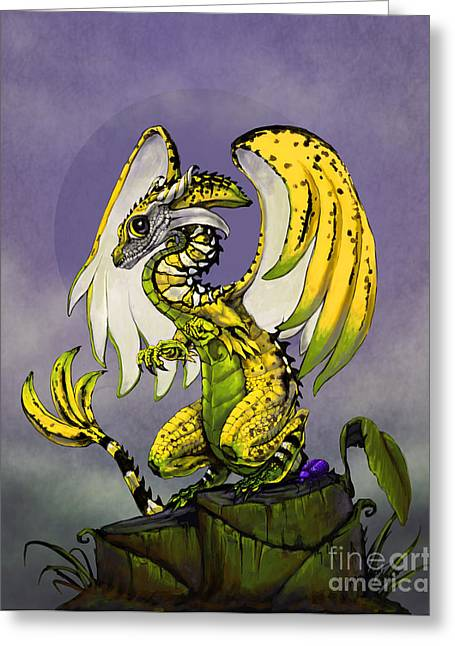 Banana Dragon Greeting Card by Stanley Morrison