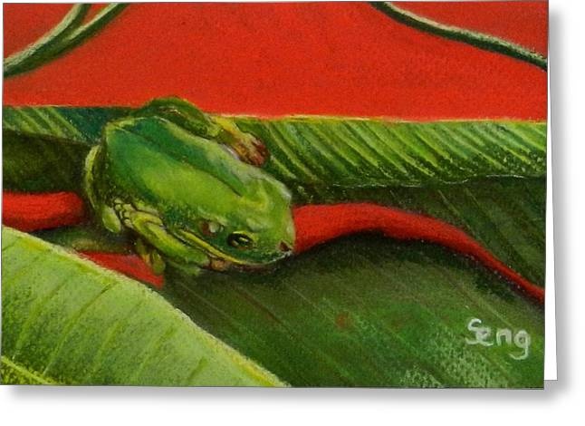 Banana Pastels Greeting Cards - Banana Dweller Greeting Card by Sandra Sengstock-Miller