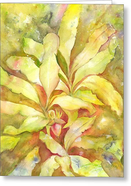 Banana Plants Greeting Cards - Banana Greeting Card by Kelly Perez