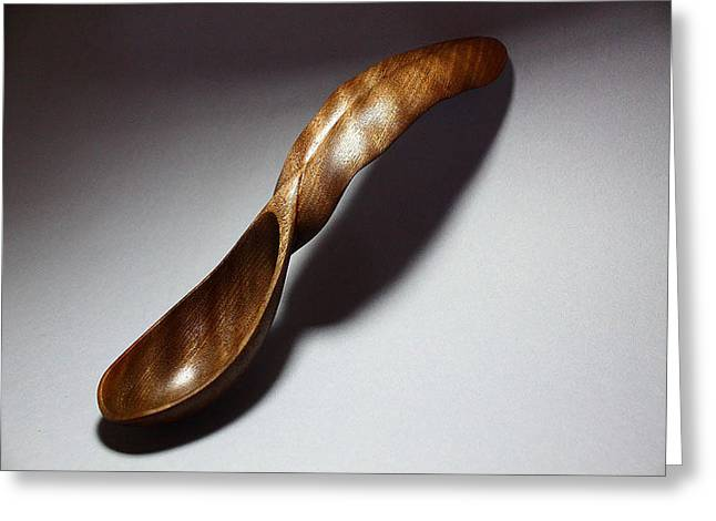 Abstract Waves Sculptures Greeting Cards - Banana Leaf Spoon 3 Greeting Card by Abram Barrett