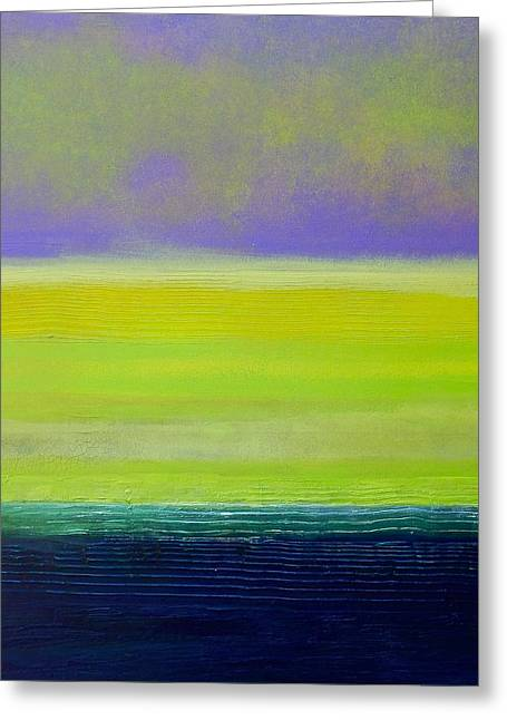 Purple Abstract Sculptures Greeting Cards - Banana Republic Greeting Card by J Price Garner