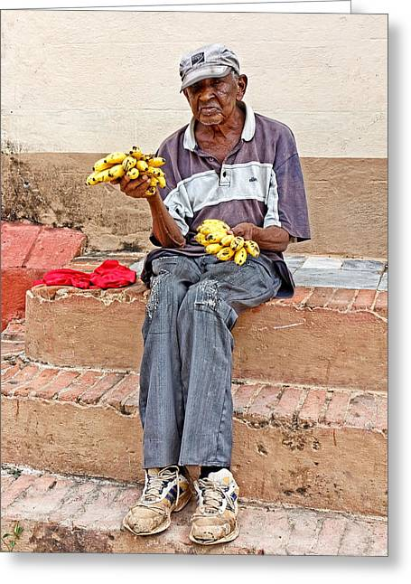 Cuban Greeting Cards - Bananas for Sale Greeting Card by Dawn Currie