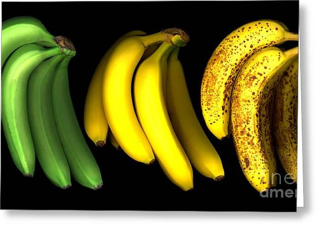 Yellow Bananas Greeting Cards - Bananas Greeting Card by Tony Cordoza