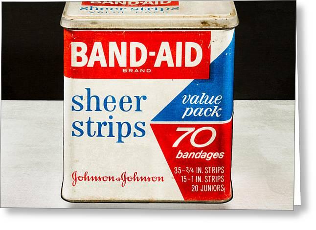 Bands Photographs Greeting Cards - Band-Aid Box Greeting Card by Yo Pedro