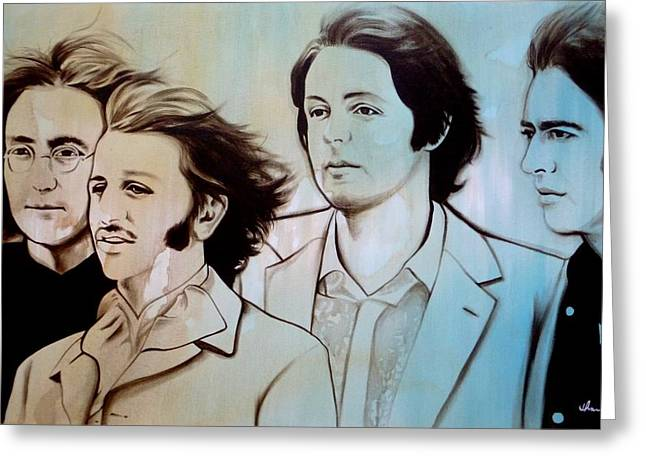 Paulmccartney Greeting Cards - Band Of Brothers Greeting Card by Joo Chung