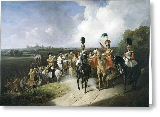 Trumpeters Greeting Cards - Band Of The Second Regiment Of Life Greeting Card by John Frederick Tayler
