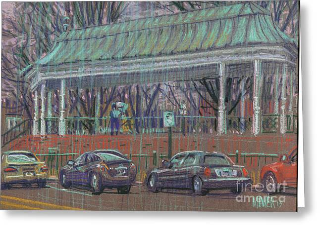Bandstand Greeting Cards - Band Stand Greeting Card by Donald Maier