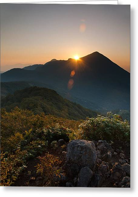 Sunrise Greeting Cards - Bandai Sunrise Greeting Card by Aaron S Bedell