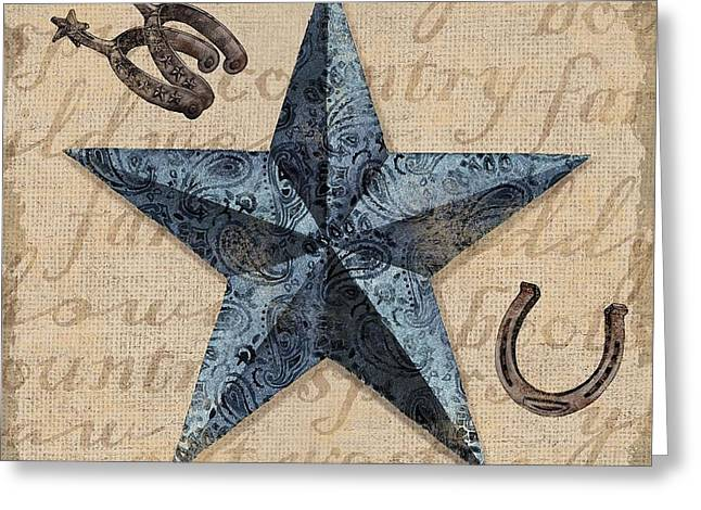 Bandana Greeting Cards - Bandana Barn Star II Greeting Card by Paul Brent
