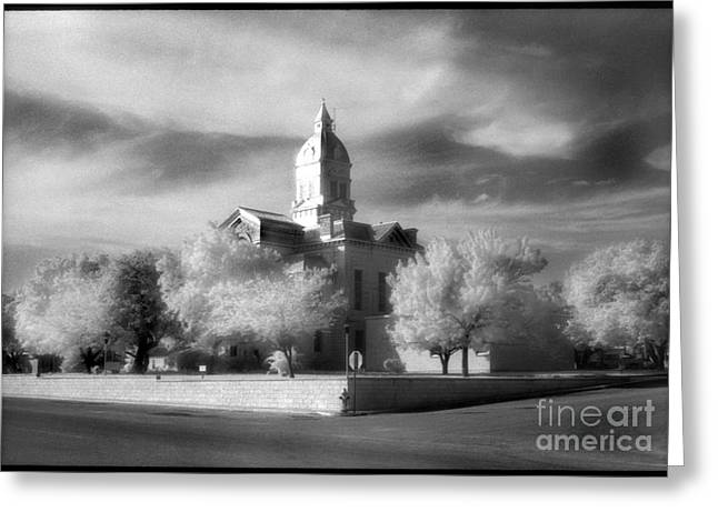 First-lady Greeting Cards - Bandera County Courthouse Greeting Card by Greg Kopriva