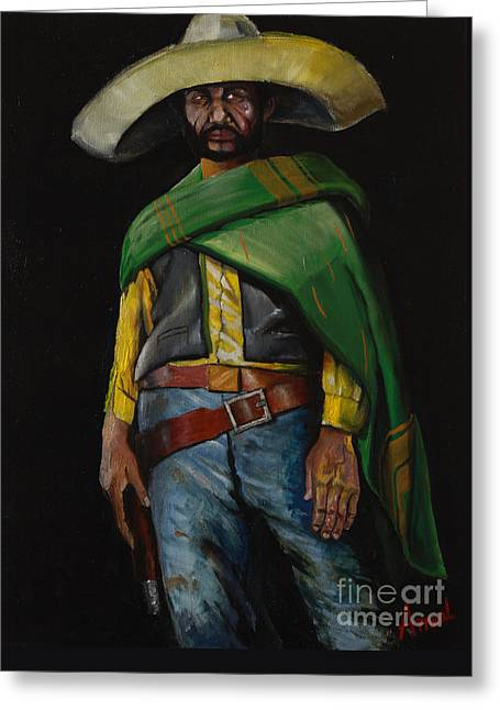 Bandito Greeting Card by George Ameal Wilson