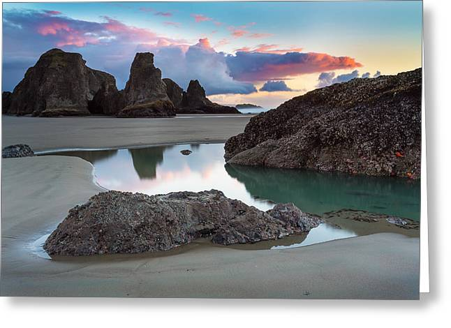Recently Sold -  - Ocean Landscape Greeting Cards - Bandon By The Sea Greeting Card by Robert Bynum