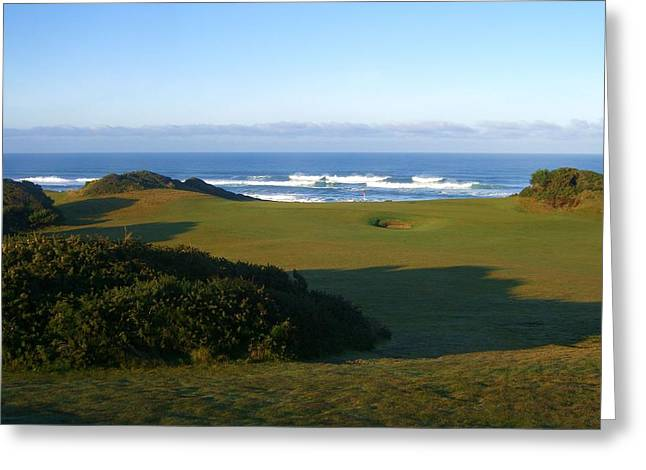 Hole 12 Greeting Cards - Bandon Dunes Hole #12 Greeting Card by Scott Carda