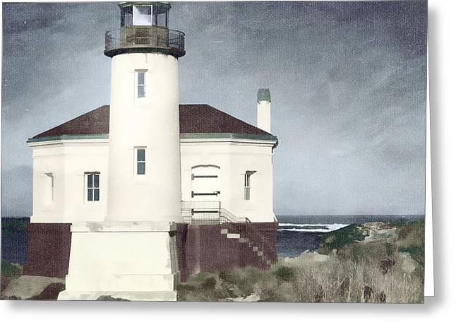 Sentinels Greeting Cards - Bandon Lighthouse Greeting Card by Carol Leigh
