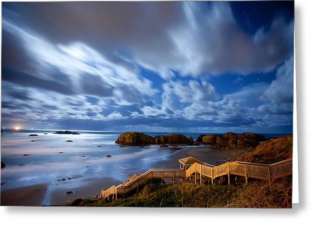 Bandon Nightlife Greeting Card by Darren  White
