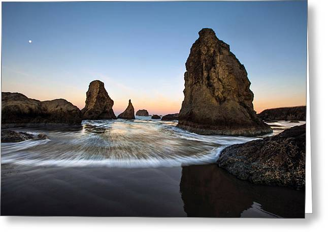 Pacific Ocean Prints Greeting Cards - Bandon Tides Greeting Card by Pamela Winders