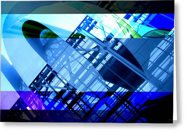 Merging Greeting Cards - Bands - Structure Greeting Card by Jon Berry
