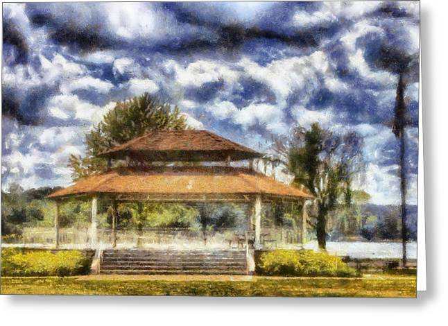 Bandstand Greeting Cards - Bandstand Greeting Card by Daniel Eskridge