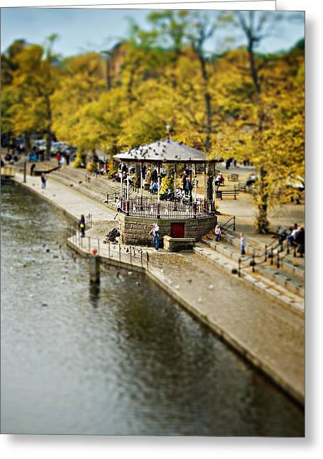 Bandstand Greeting Cards - Bandstand In Chester Greeting Card by Meirion Matthias