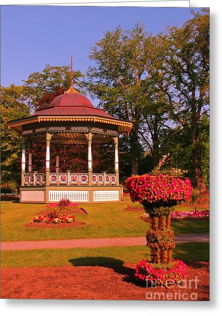 Halifax Photographs Greeting Cards - Bandstand in Halifax Public Gardens Greeting Card by John Malone