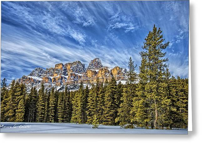 Abstract Digital Pyrography Greeting Cards - Banff 01 Greeting Card by Mauro Celotti
