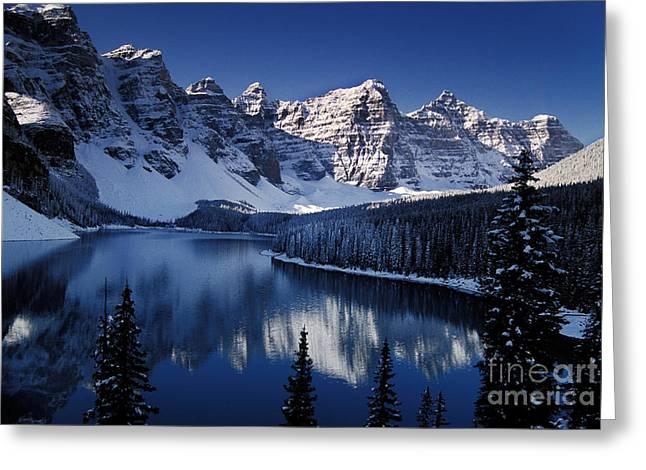 Reflecting Water Greeting Cards - Banff National Park, Alberta, Canada Greeting Card by Ron Sanford
