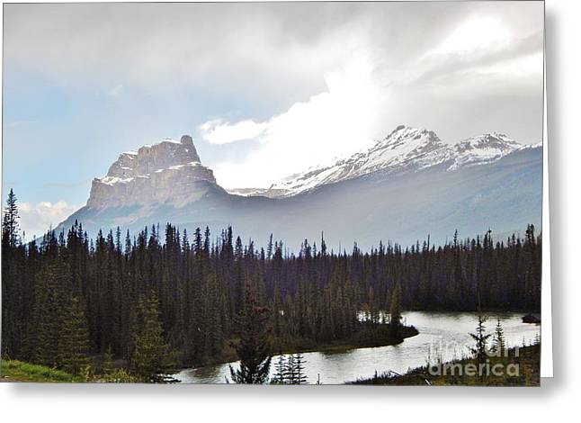 River View Greeting Cards - Banff National Park Greeting Card by Reb Frost