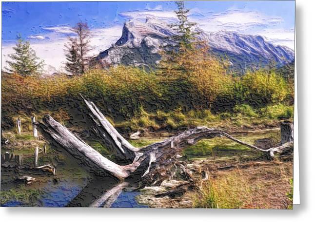 Rundle Greeting Cards - Banff National Park Greeting Card by Wayne Bonney