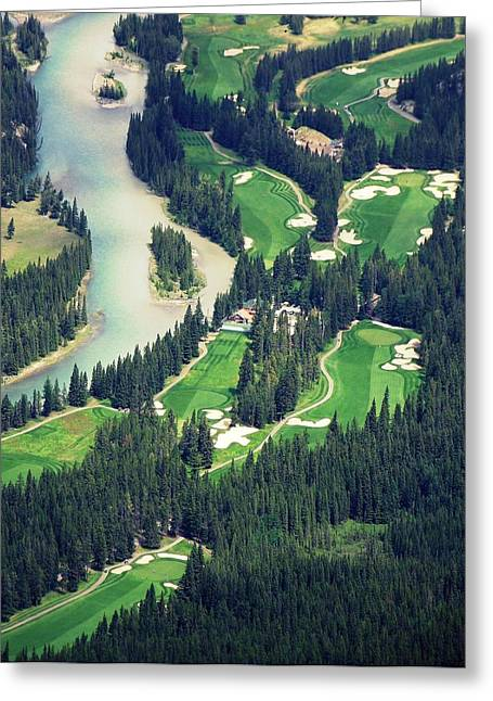 Golfcourse Greeting Cards - Banff Springs Golf Course Greeting Card by Jessica Krieser
