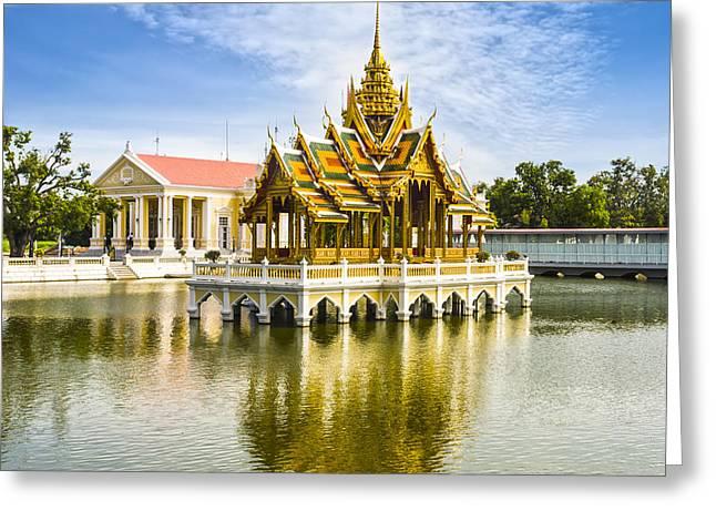 Pa Greeting Cards - Bang Pa In Palace Thailand Greeting Card by Colin and Linda McKie