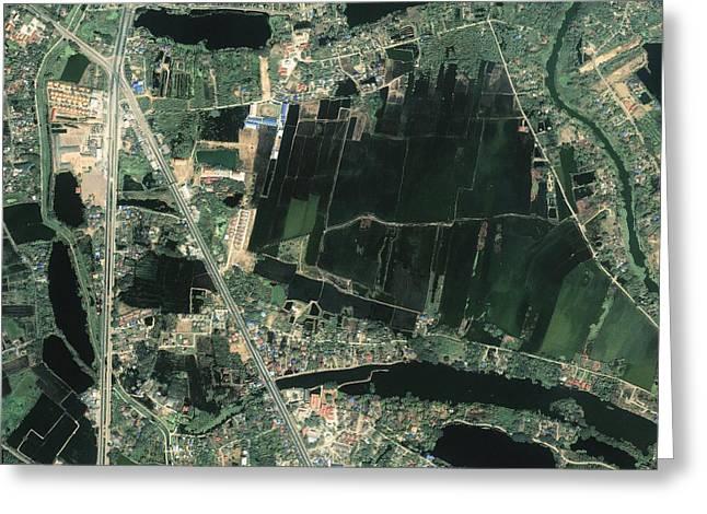 Satellite Image Greeting Cards - Bangkok, Thailand, satellite image Greeting Card by Science Photo Library