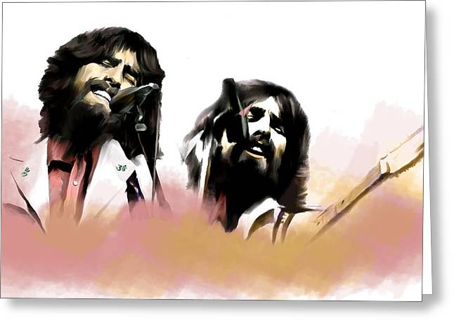 Smart Phone Greeting Cards - Bangladesh  George Harrison Greeting Card by Iconic Images Art Gallery David Pucciarelli