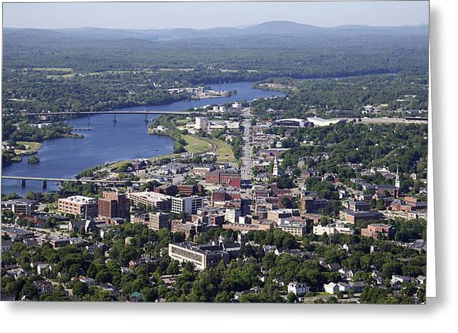 Oblique Greeting Cards - Bangor, Maine Greeting Card by Dave Cleaveland
