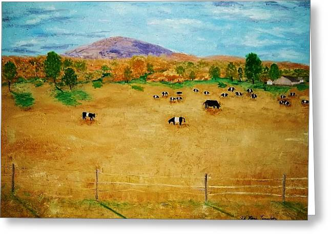 Maine Farms Paintings Greeting Cards - Bangor Maine Farm Greeting Card by Jill Langdon