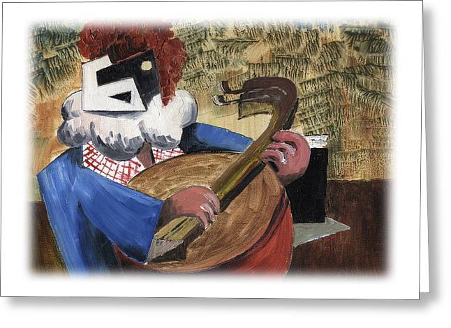 Tour Ireland Greeting Cards - Banjo Bill Greeting Card by Val Byrne