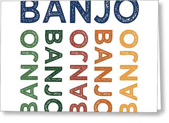 Banjo Cute Colorful Greeting Card by Flo Karp