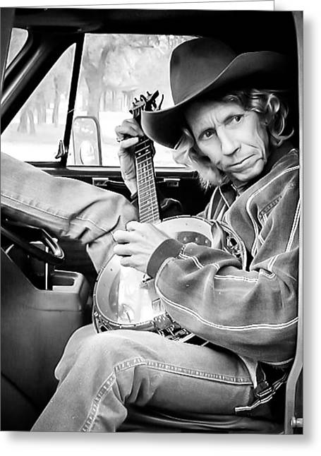 Banjo Man Greeting Card by Darryl Dalton