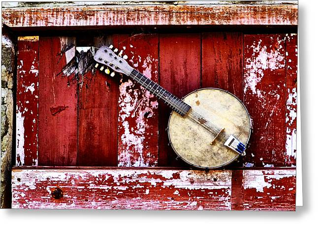 Banjo Mandolin - American Music Greeting Card by Bill Cannon