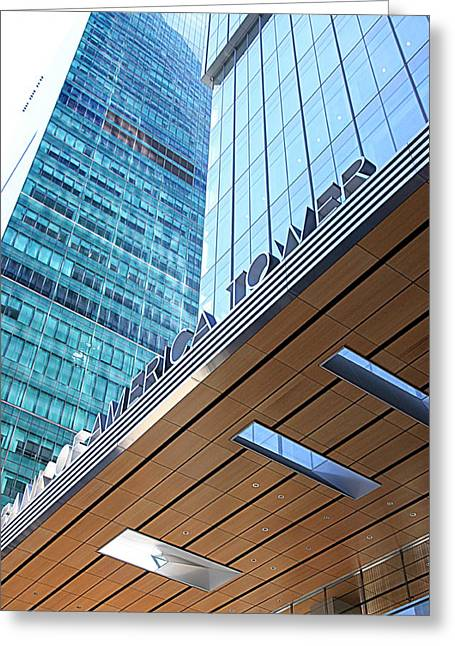 Bank Of America Greeting Cards - Bank of America Tower Greeting Card by Valentino Visentini